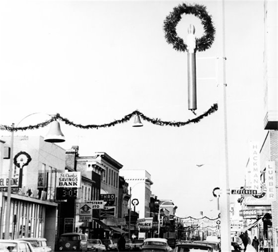 Christmas in downtown St. Charles 1966