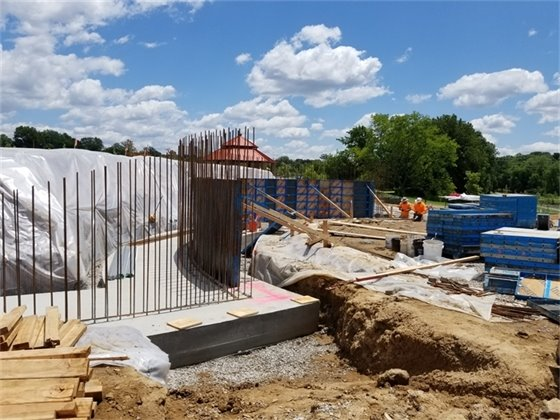 Veterans Memorial is being constructed at Veterans Tribute Park.
