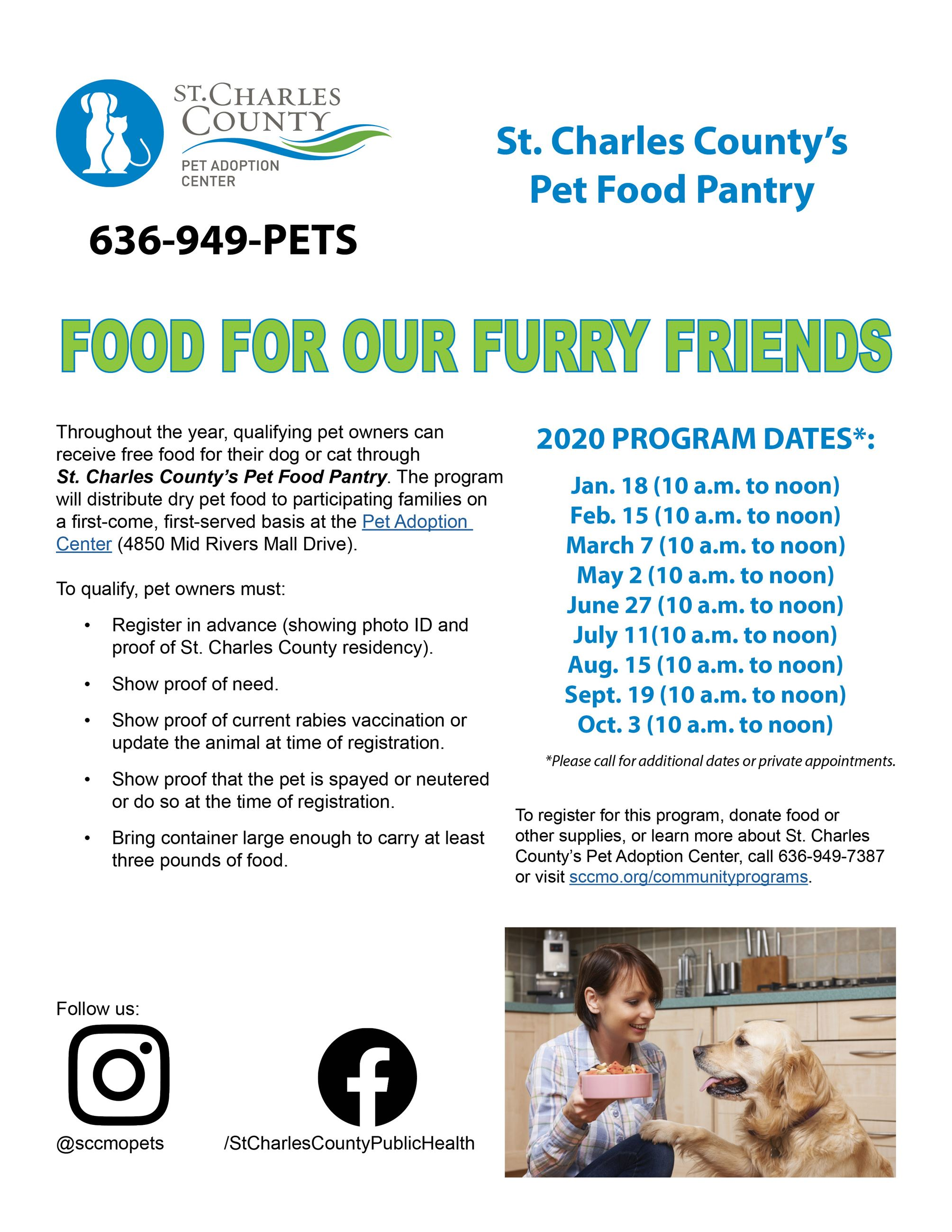 Pet Food Pantry_list of dates