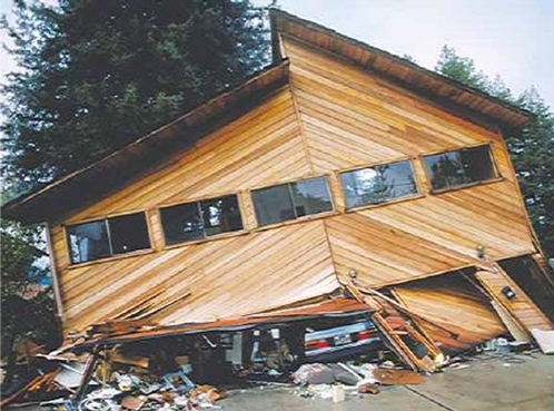 House after an earth quake; Photo from the U.S. Geological Survey Photo Library
