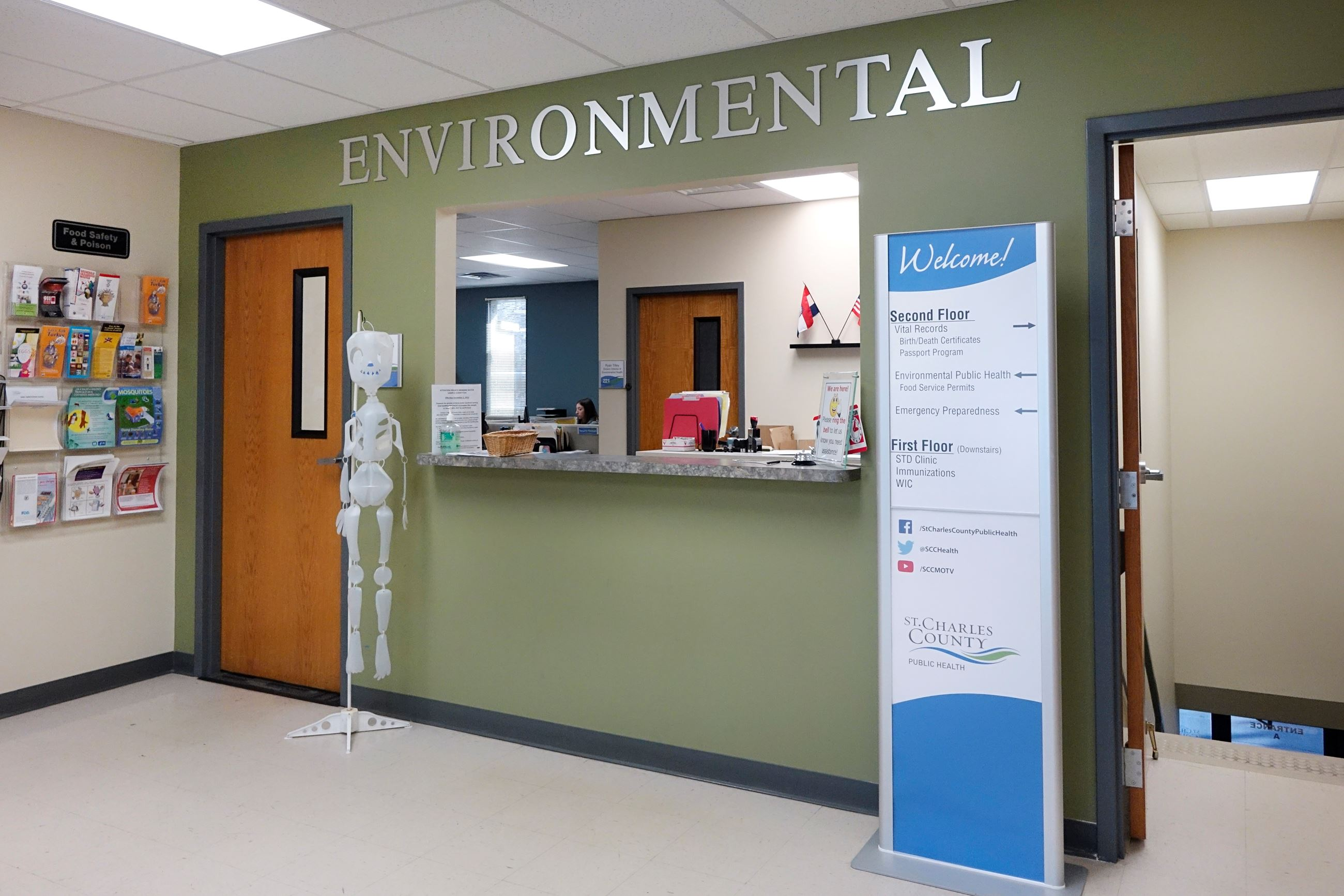 Division of Environmental Health and Protection lobby